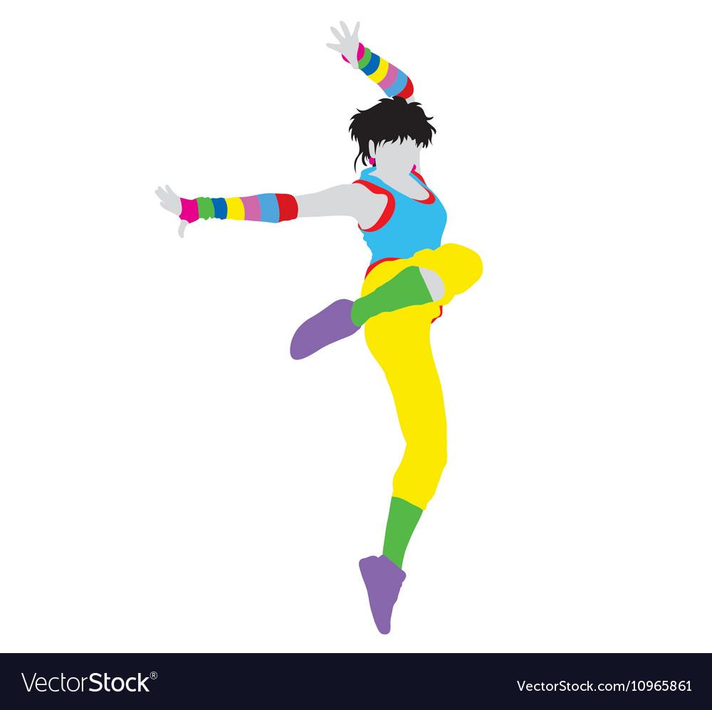 Happy Dancer Silhouette vector image