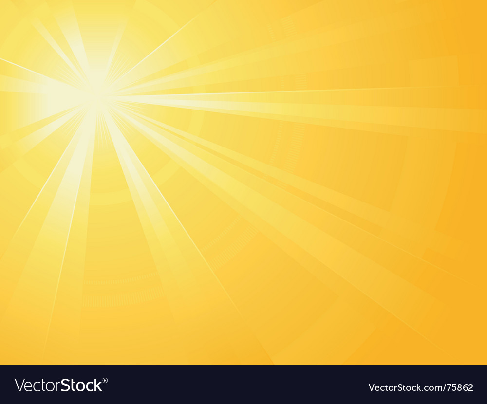 Sun light burst vector image