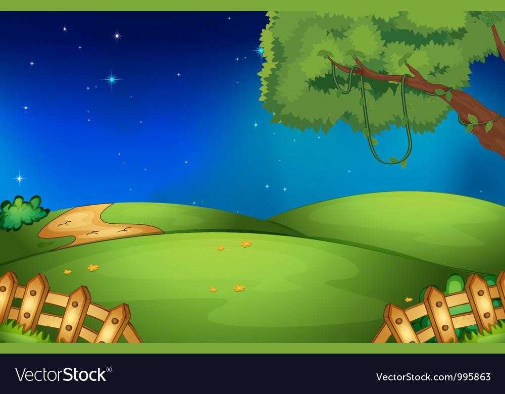 Open Landscape Vector Image