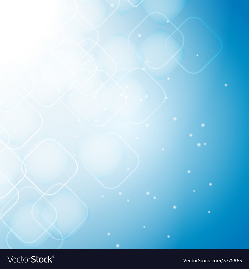 Rhombus blue abstract vector image