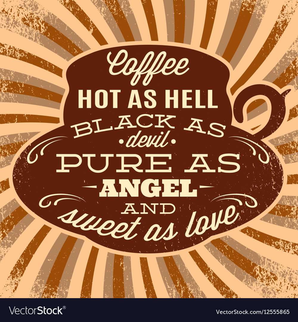 Retro poster with cup of coffee vector image