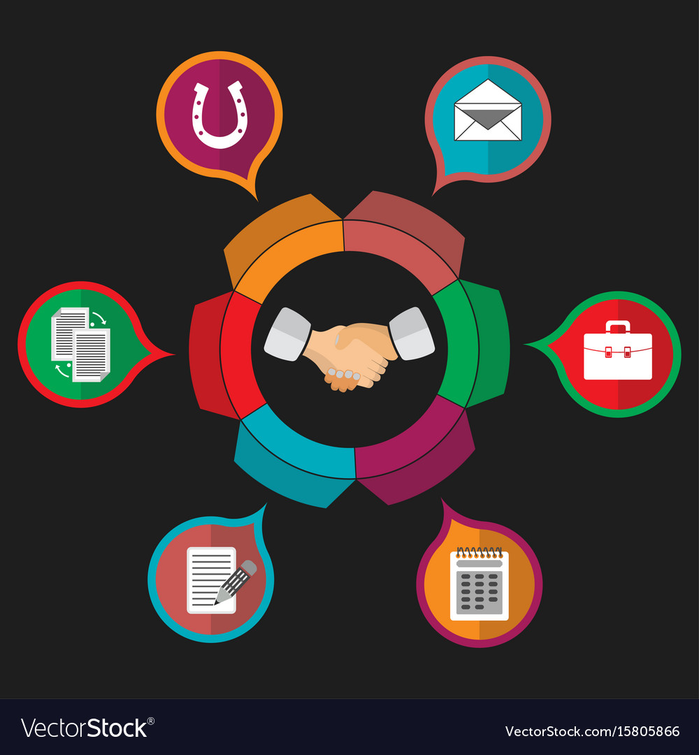 Customer relationship management partnership vector image