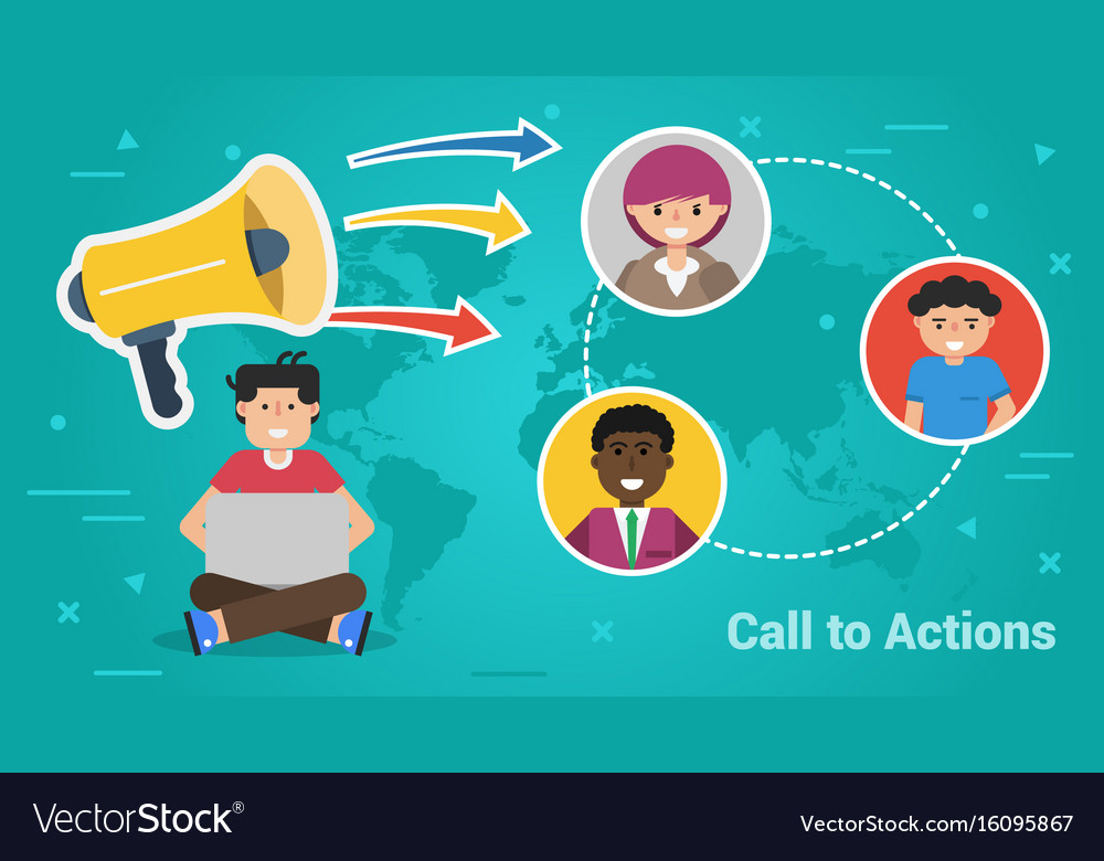 Business banner - call to actions vector image