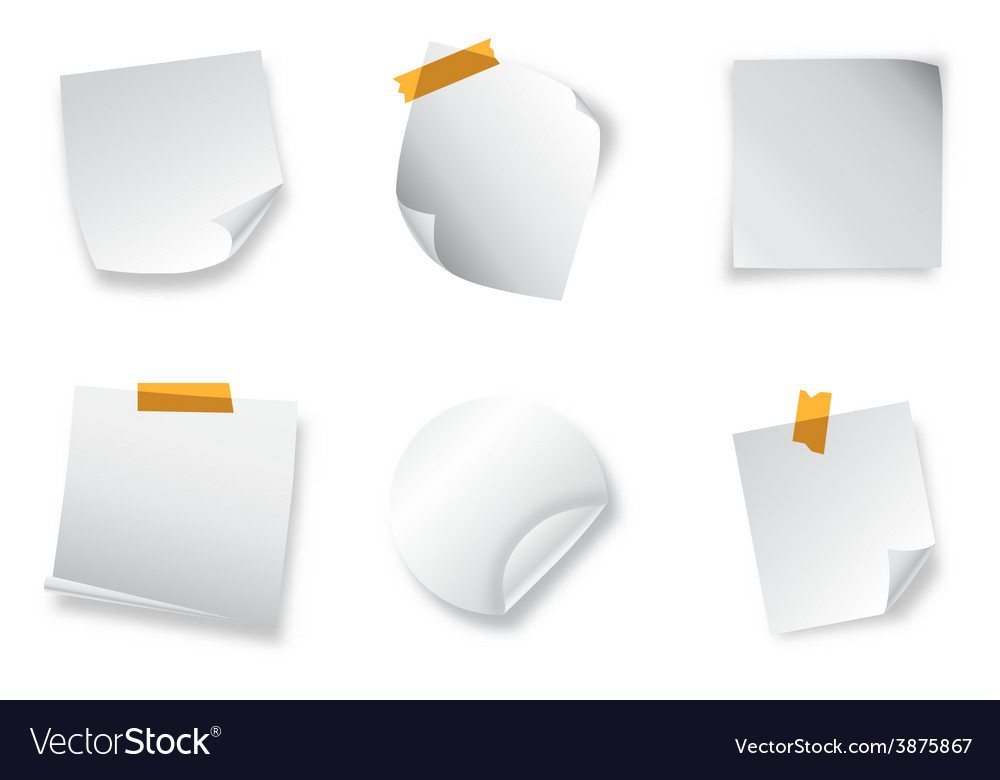 Realistic stickers with peeling corners vector image