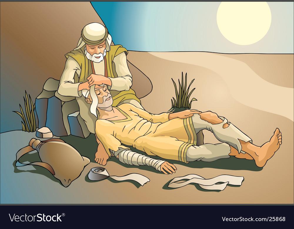 Samaritan vector image