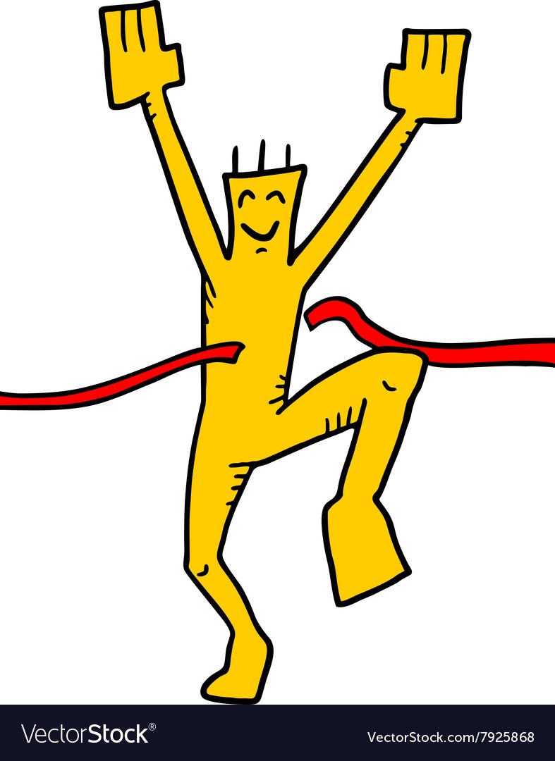 Winner puppet vector image
