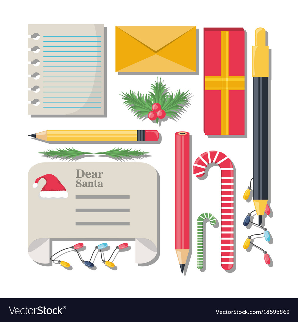 Christmas Wish List Design Vector Image