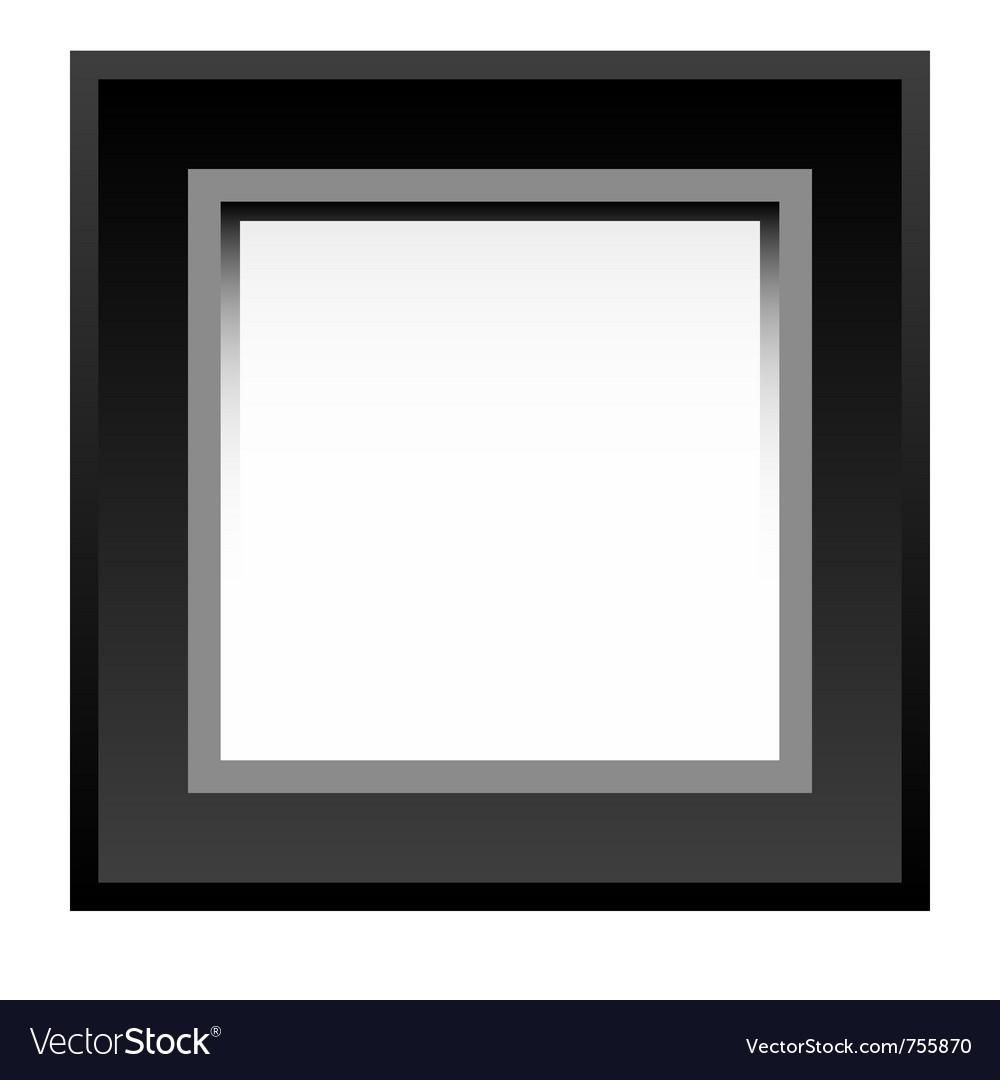 Black photo frame vector image
