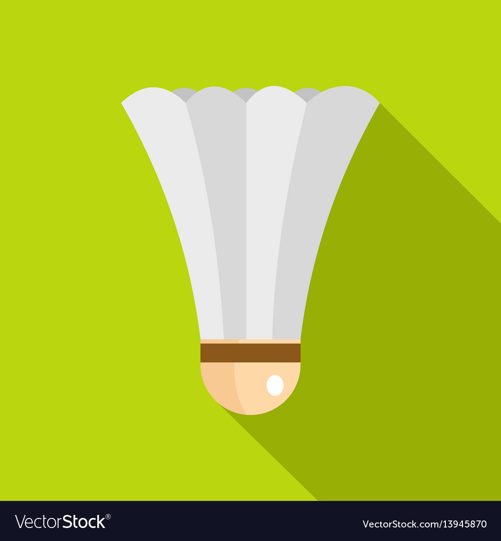 Shuttlecock for playing badminton icon flat style vector image