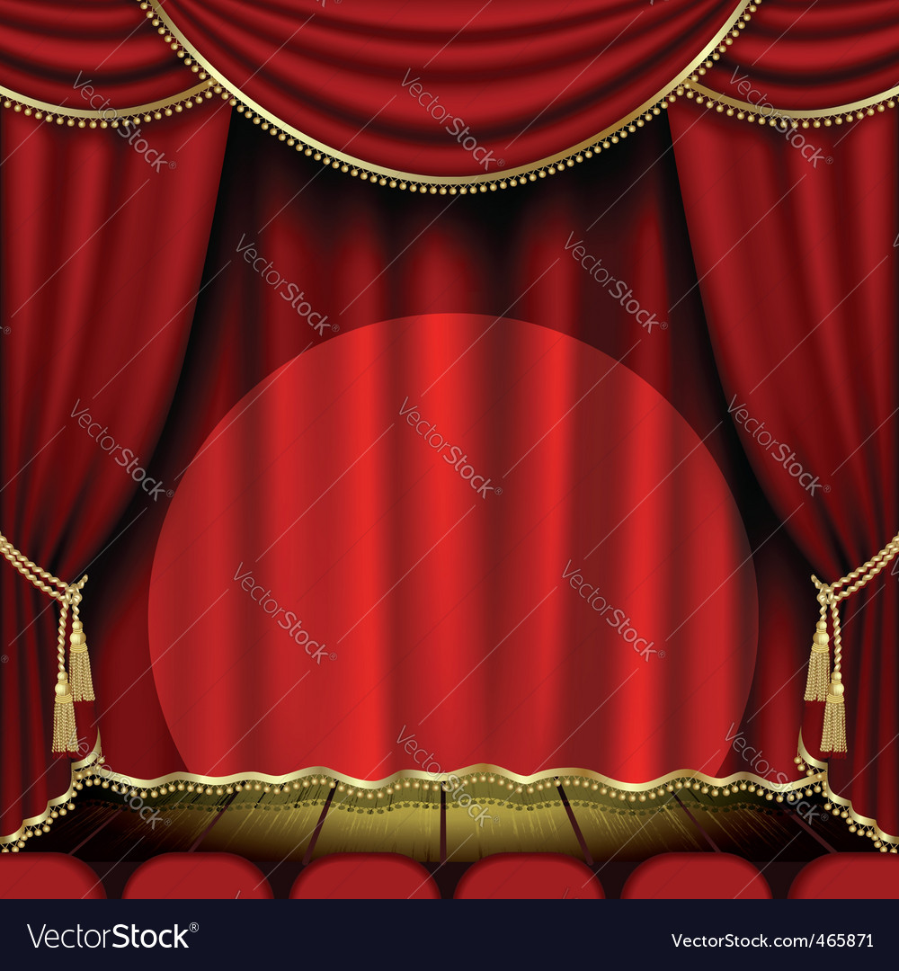 Show stage Vector Image