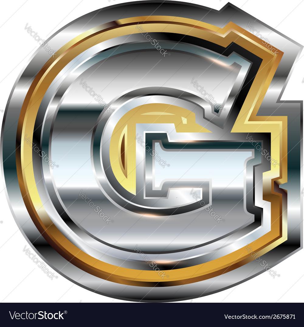 Fancy font Letter G vector image