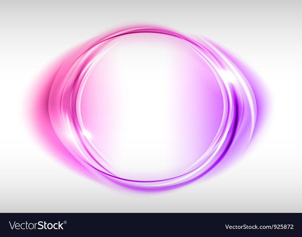 Abstract round on white purple vector image