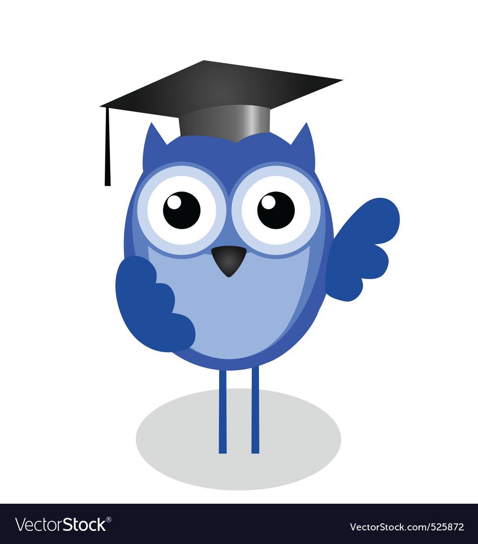 Owl teacher vector image
