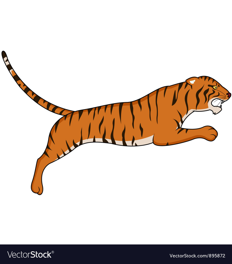 tiger cartoon royalty free vector image vectorstock