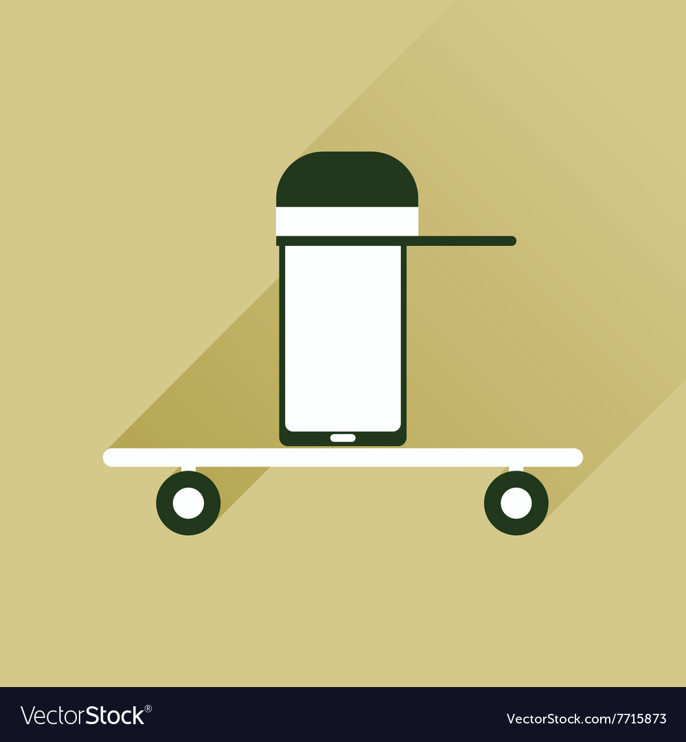 Flat web icon with long shadow mobile teenager