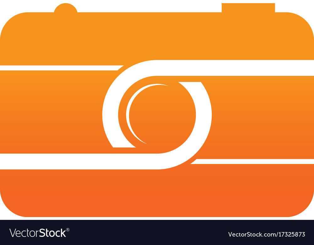 Camera photography sign logo vector image