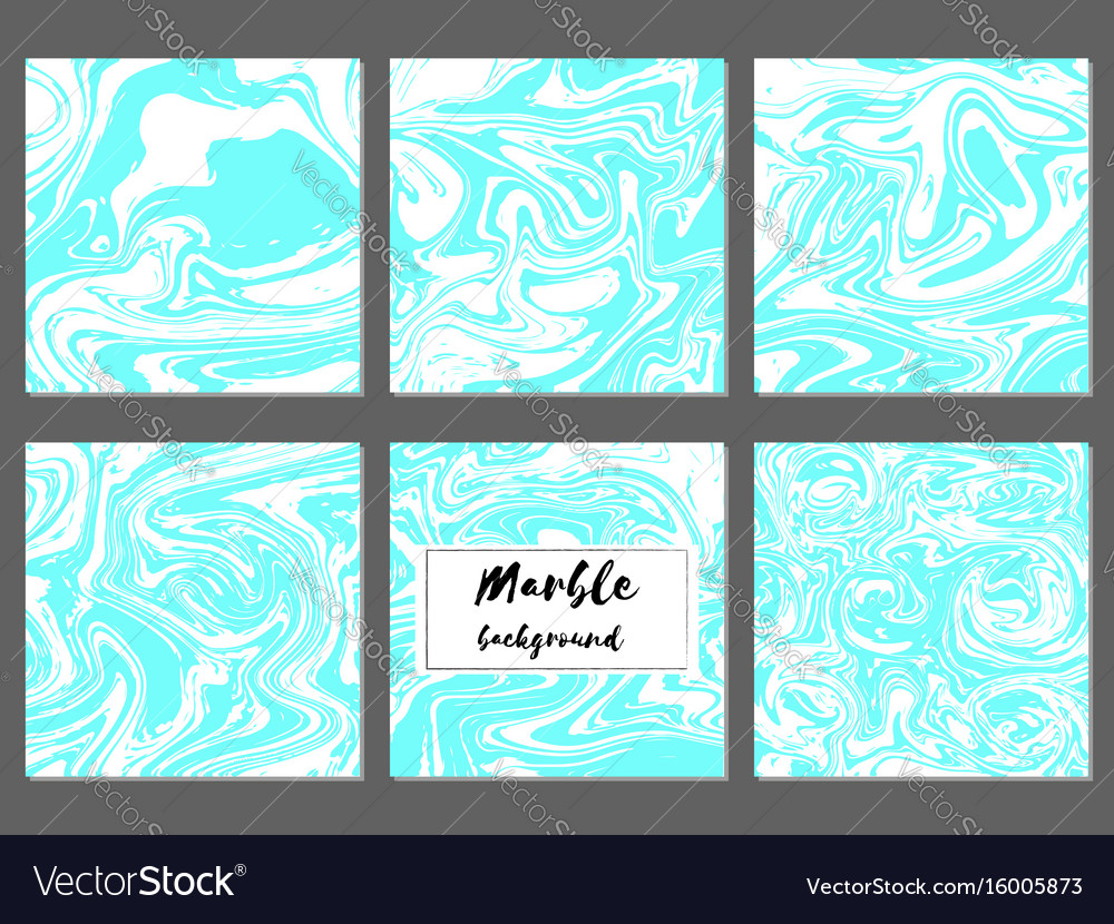 Marble hand drawn texture background card template vector image