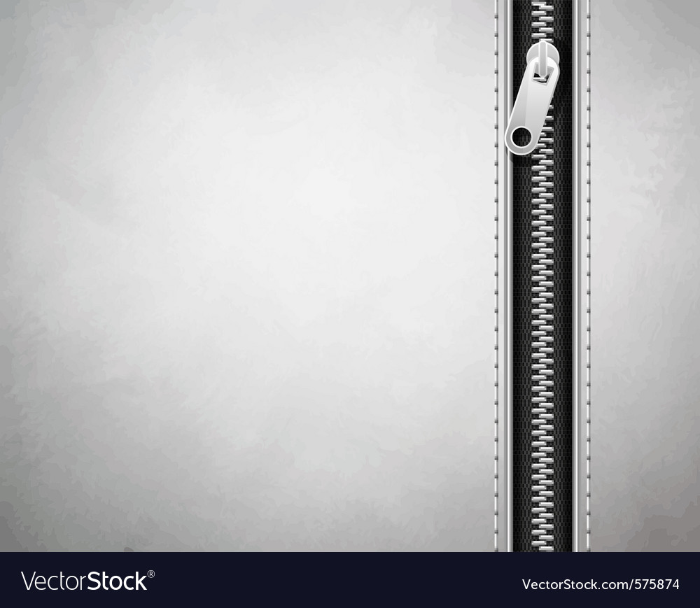 White background made of leather with a lock vector image