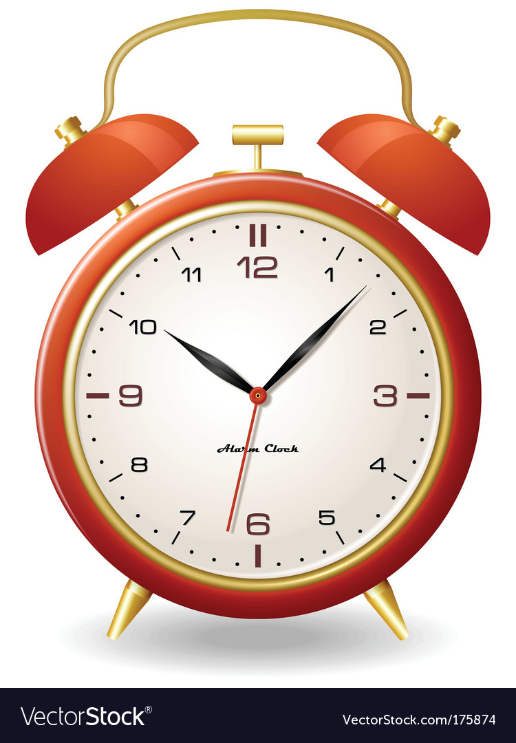 Old style clock vector image