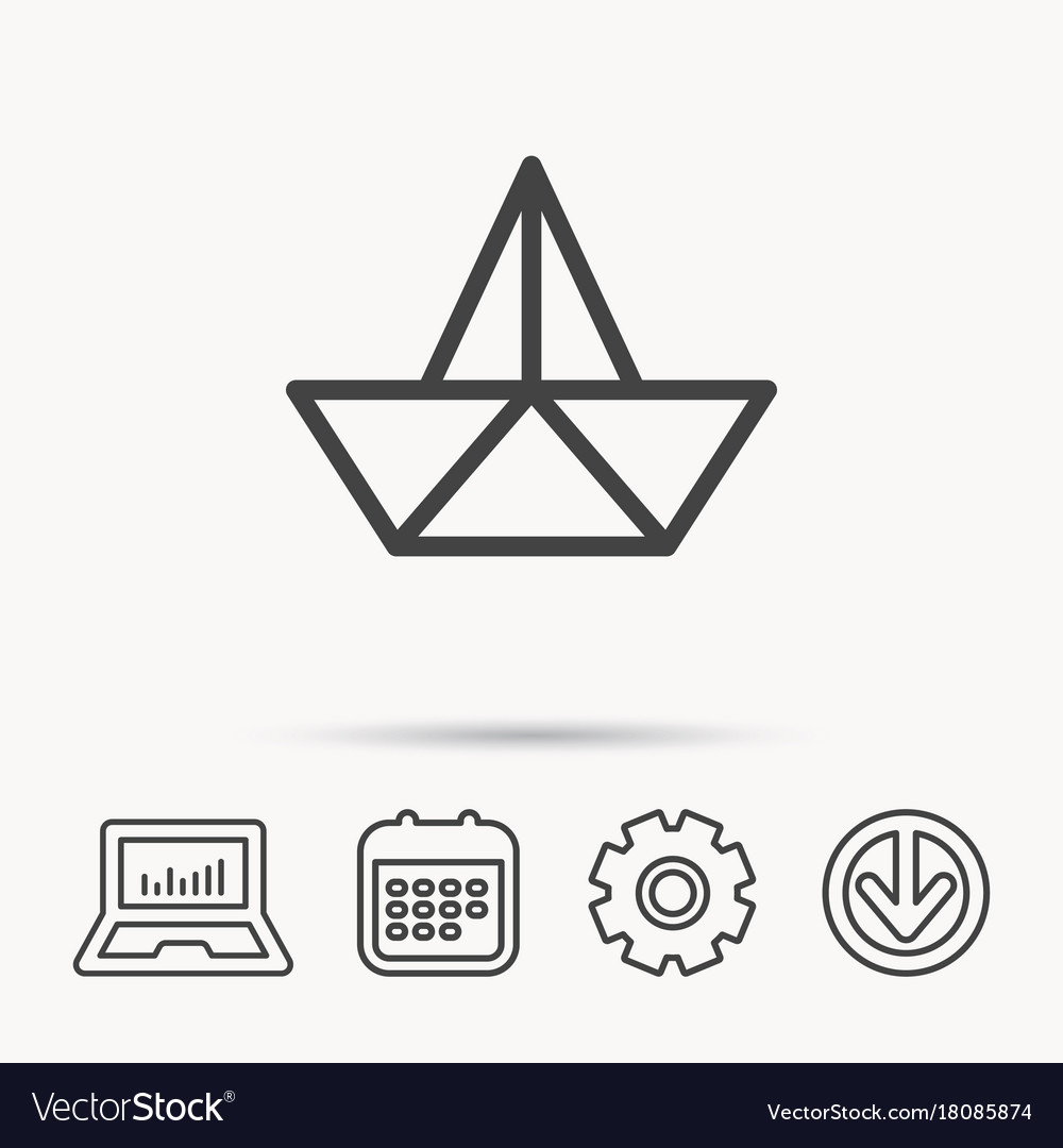 Paper boat icon origami ship sign royalty free vector image paper boat icon origami ship sign vector image jeuxipadfo Gallery