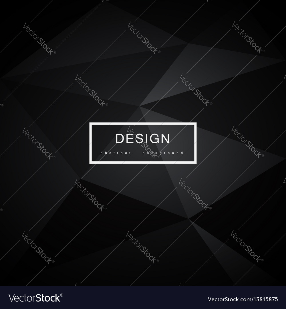 Abstract black background with triangles vector image