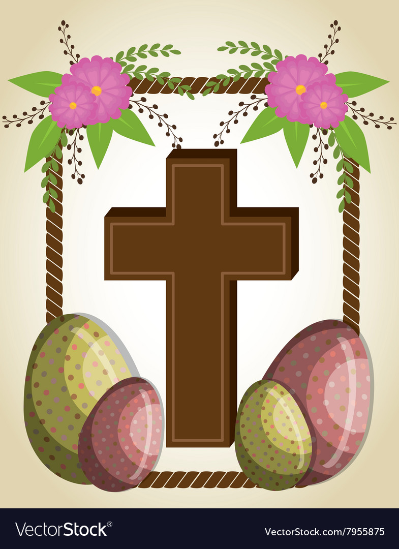 Happy easter design vector image