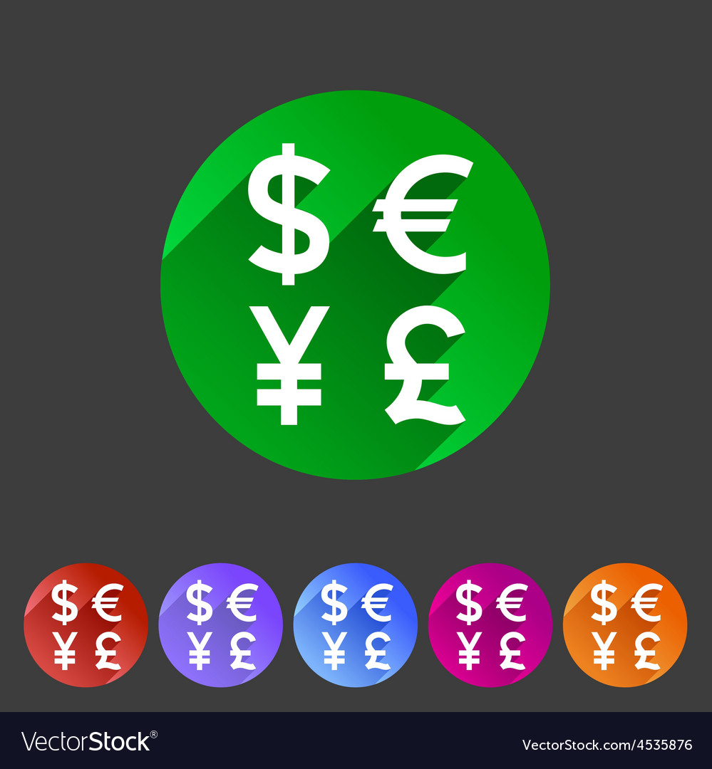 Currency exchange sign icon converter symbol money vector image