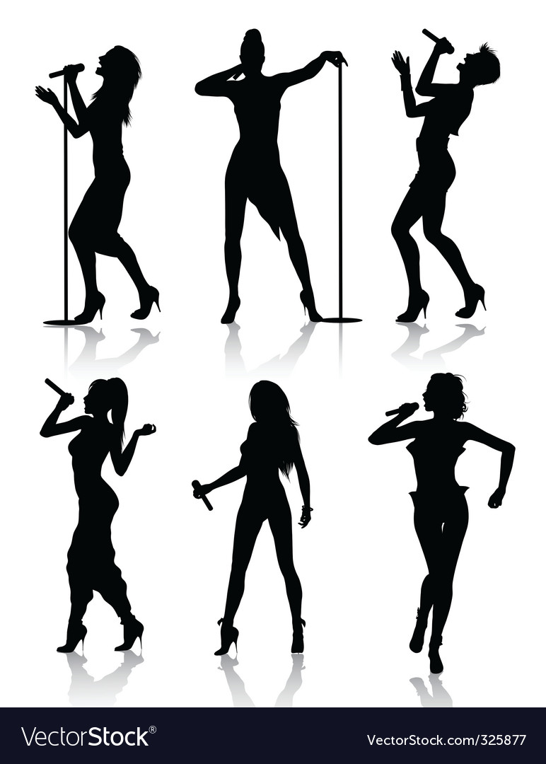 Female singers vector image