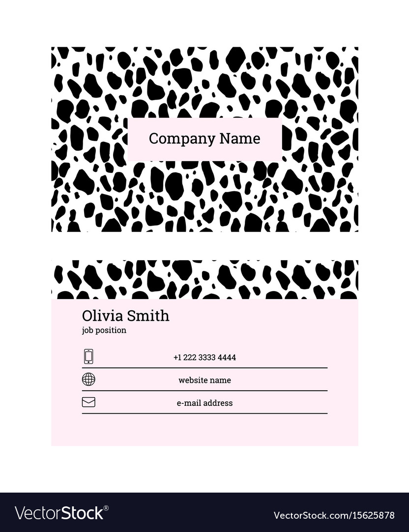 Black and pink business card template royalty free vector black and pink business card template vector image fbccfo Image collections