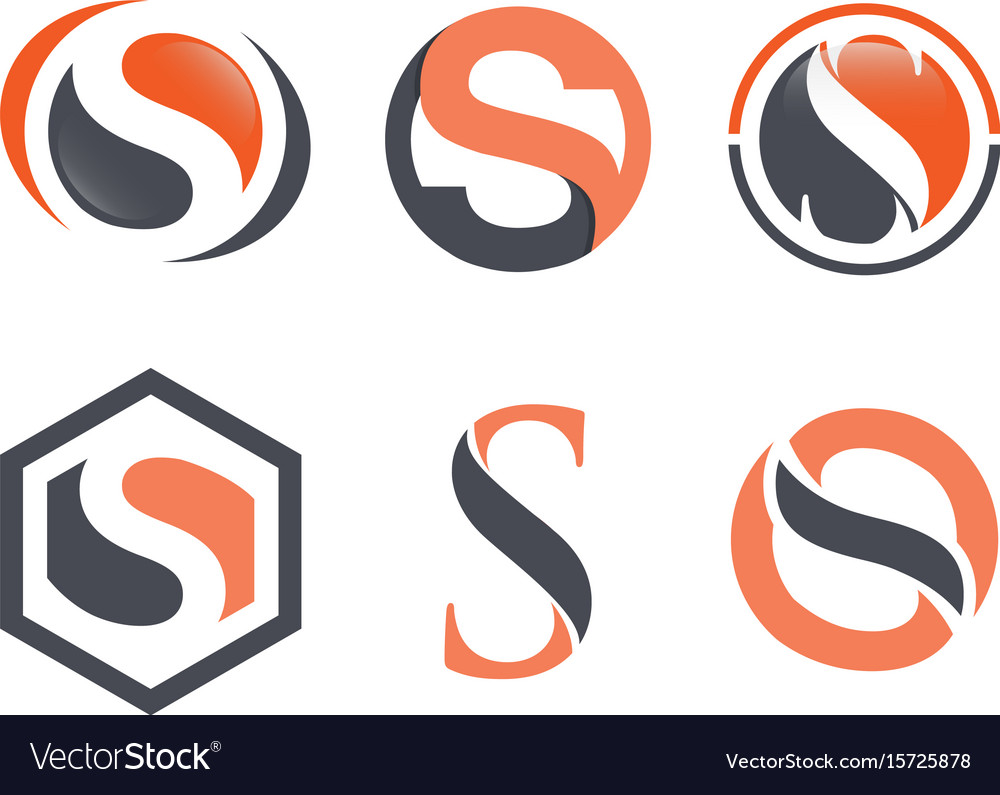 Business corporate letter s logo design vector image