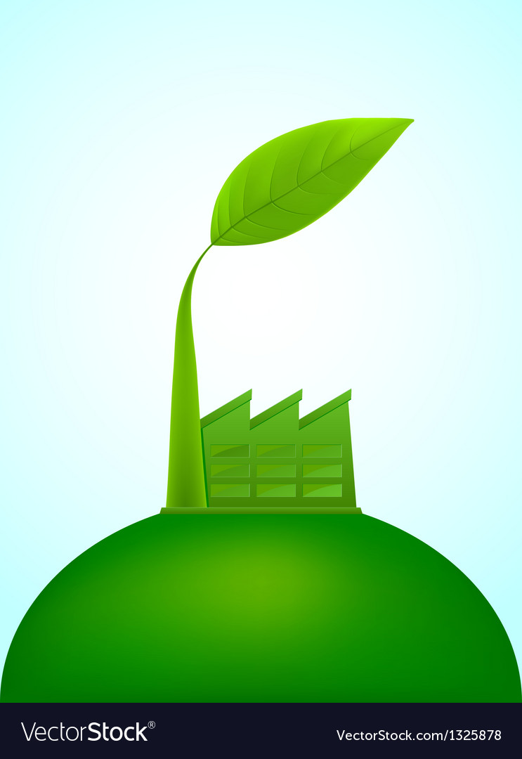 Ecological factory vector image