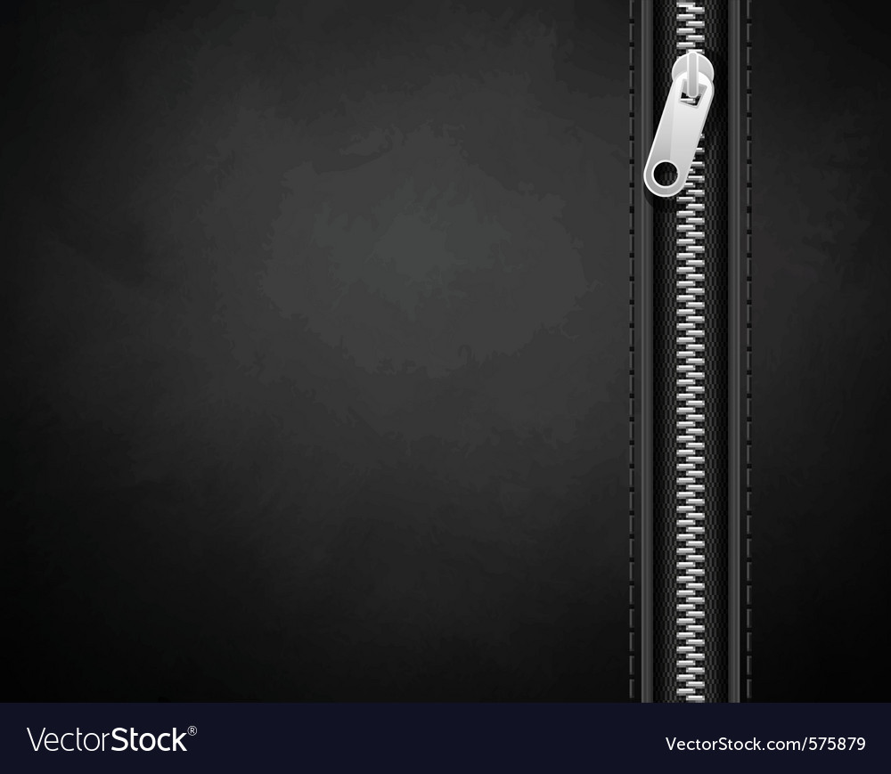 Black background made of leather with a lock vector image