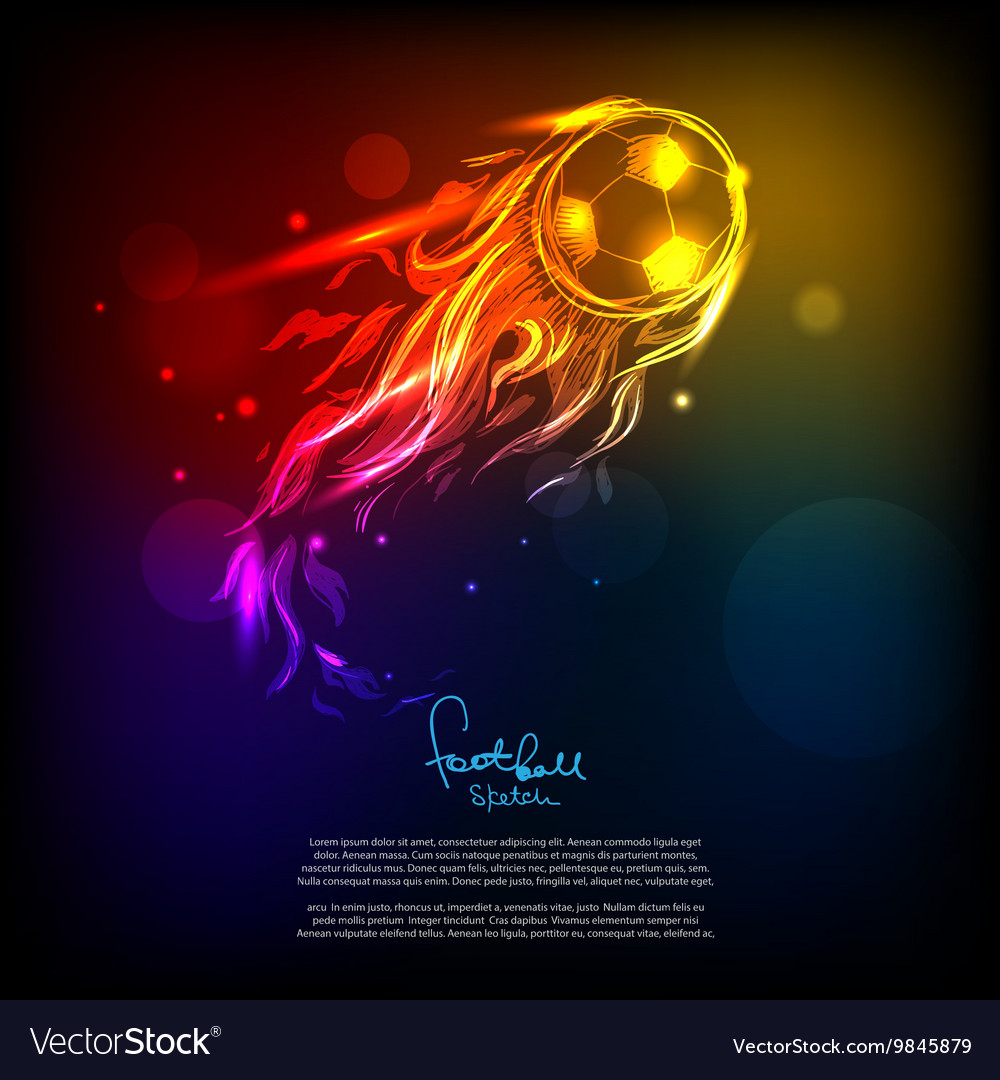 Bright soccer background vector image