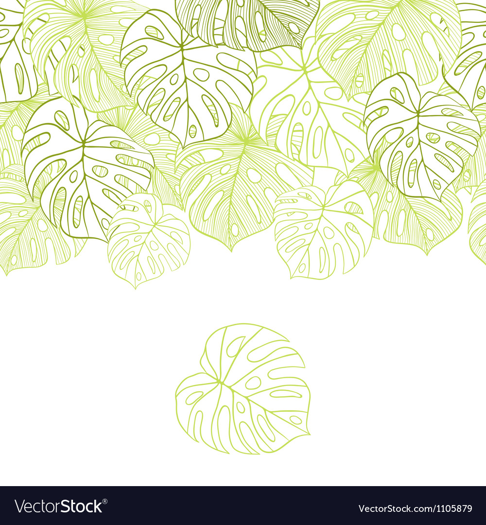 Leaves of palm tree Seamless pattern vector image