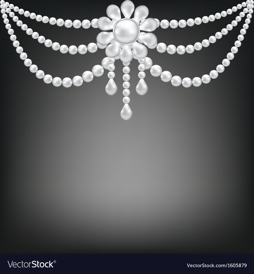 Pearl floral decoration vector image
