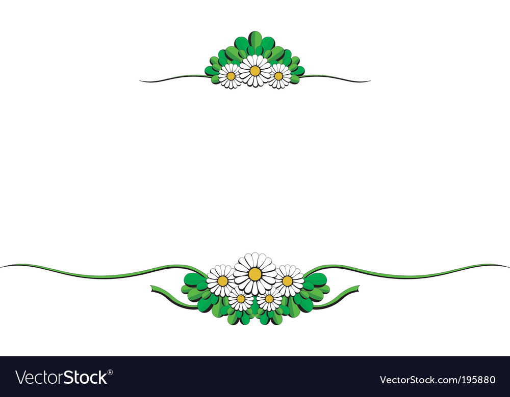 Daisy cartoon ornaments vector image