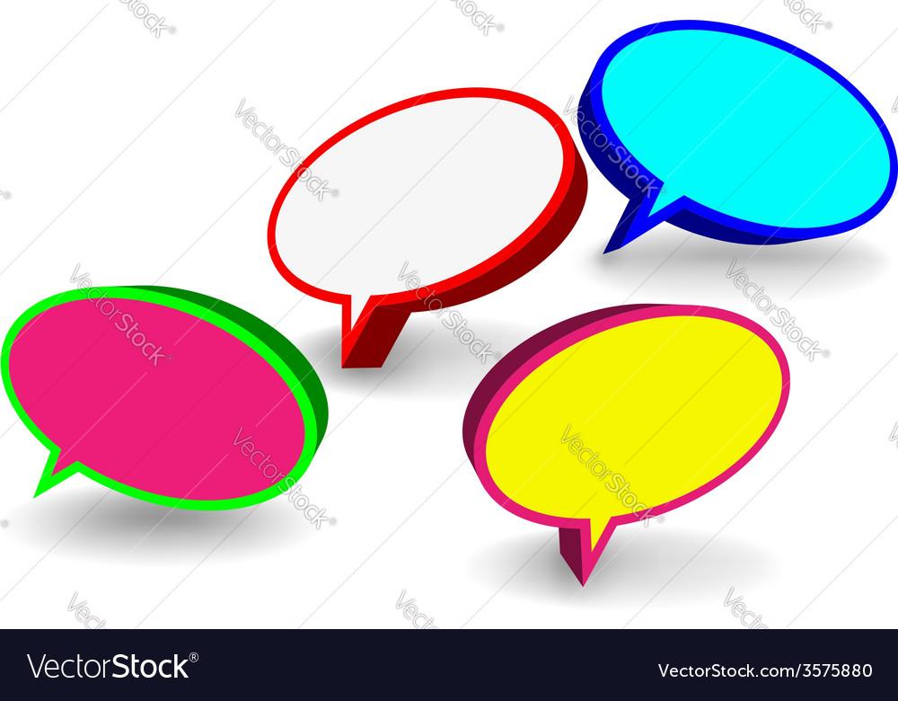 Set of 3D speech bubbles vector image