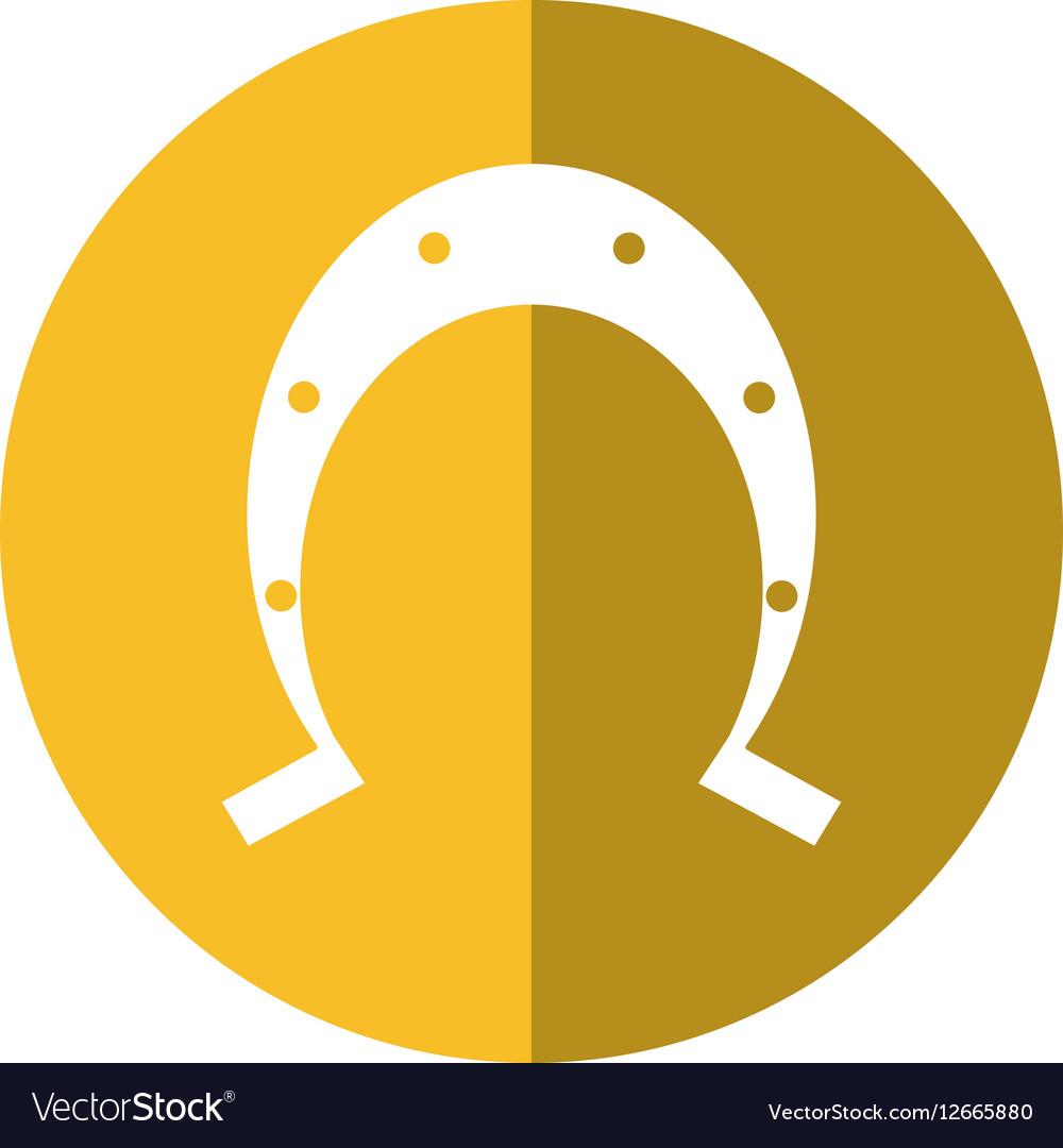 Uncategorized Lucky Symbol st patrick day horseshoe lucky symbol shadow vector image image