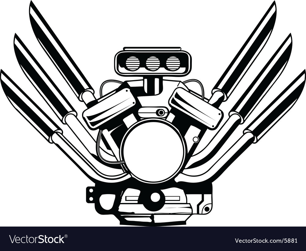 Motor engine vector image