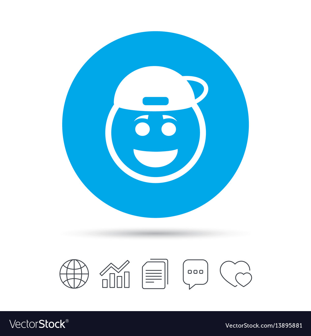 Smile rapper face icon smiley symbol royalty free vector smile rapper face icon smiley symbol vector image biocorpaavc Images
