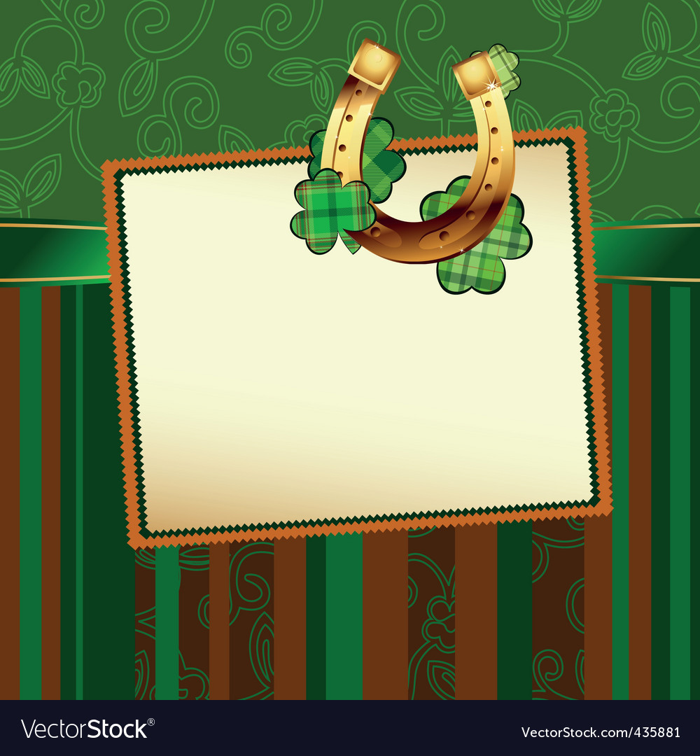 St Patrick's background vector image