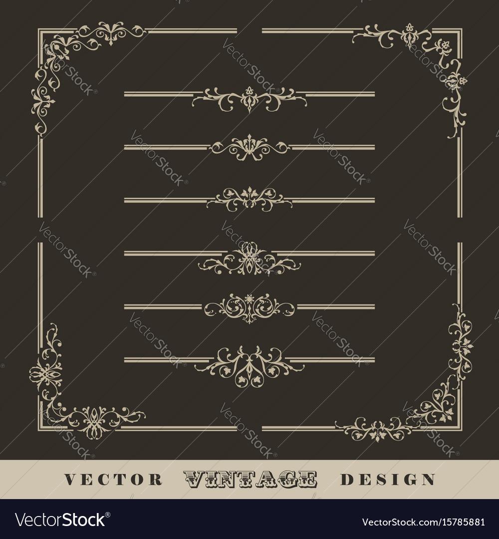 Vintage calligraphic border vector image