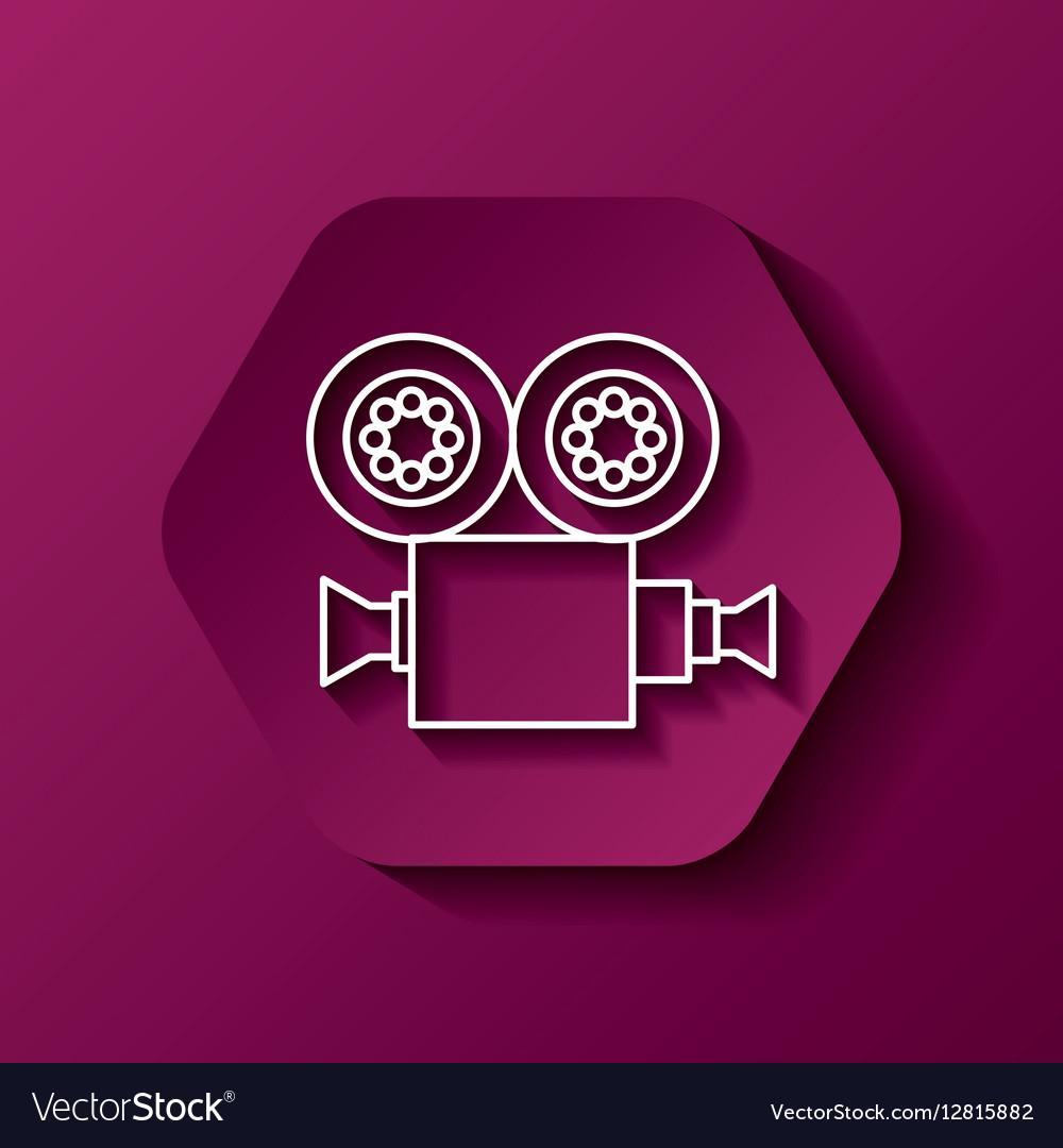 Video camera icon vector image