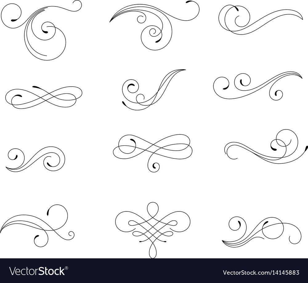 Swirling elements vector image