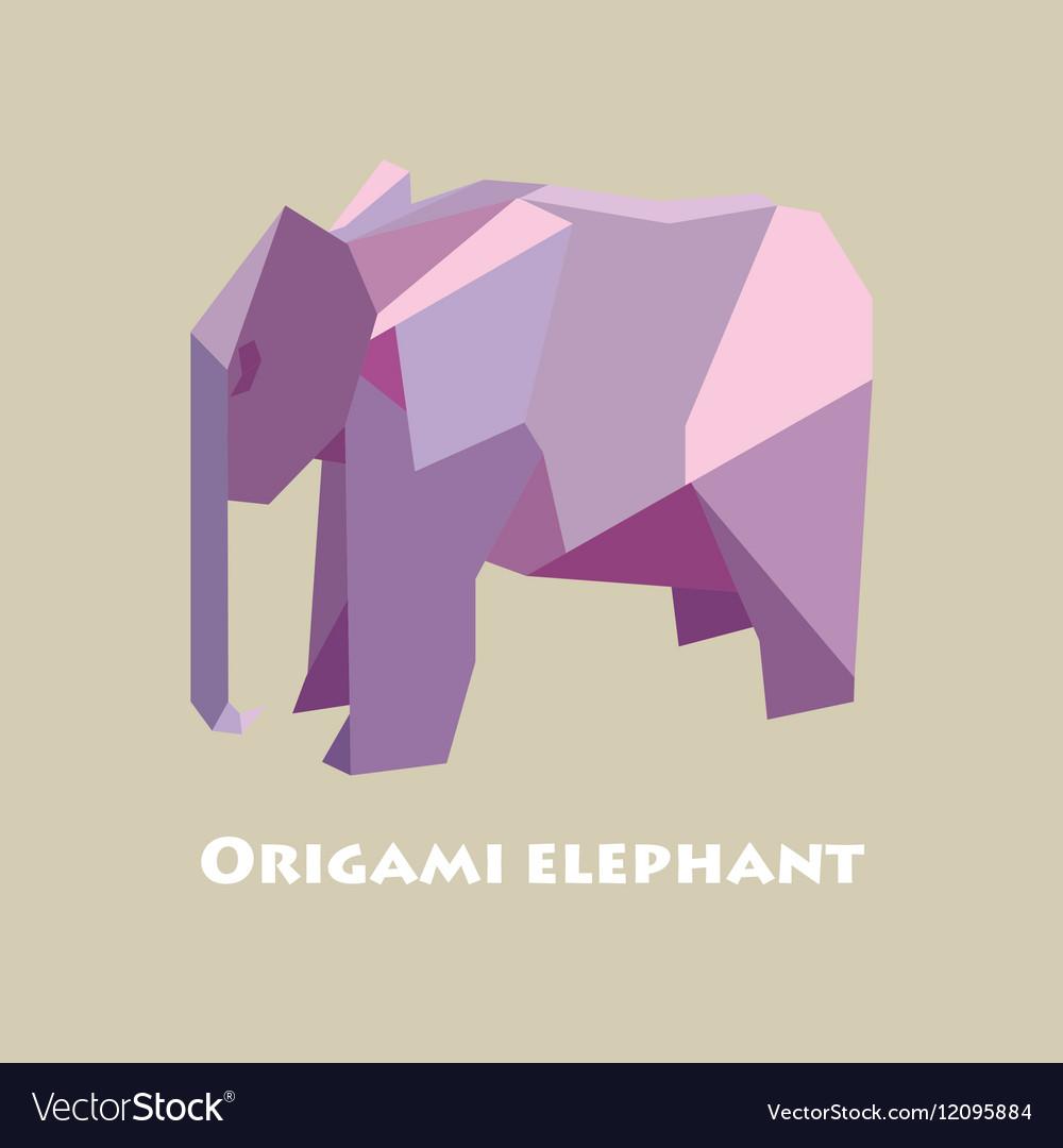 Flat design with origami elephant royalty free vector image flat design with origami elephant vector image jeuxipadfo Choice Image