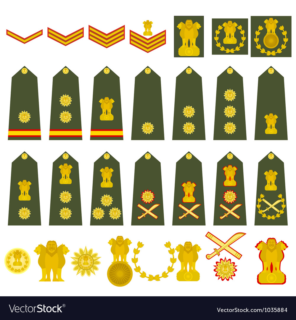 Indian army insignia royalty free vector image indian army insignia vector image biocorpaavc Images