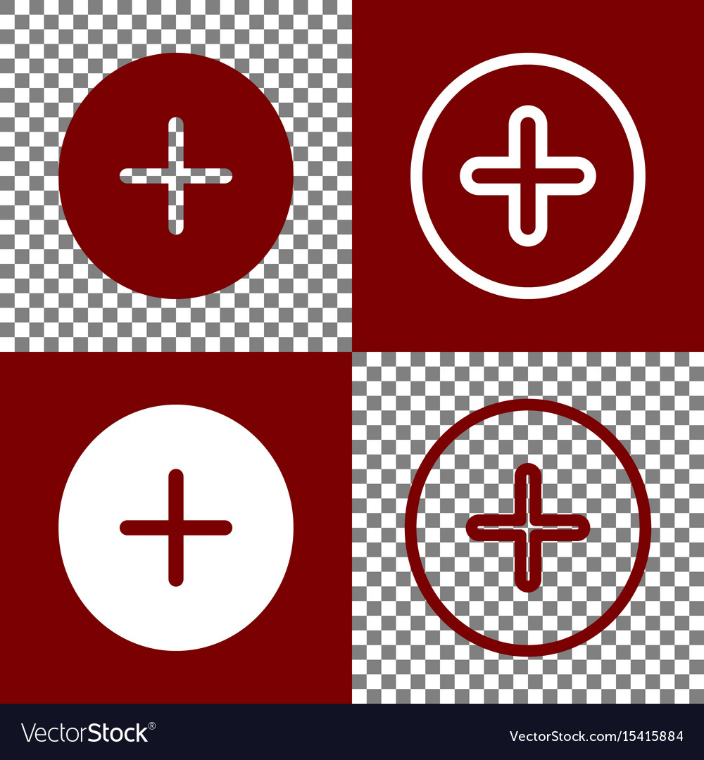 Positive symbol plus sign bordo and white vector image positive symbol plus sign bordo and white vector image biocorpaavc Choice Image