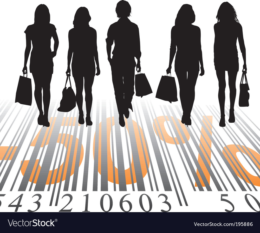 Shopping discount fifty percent vector image