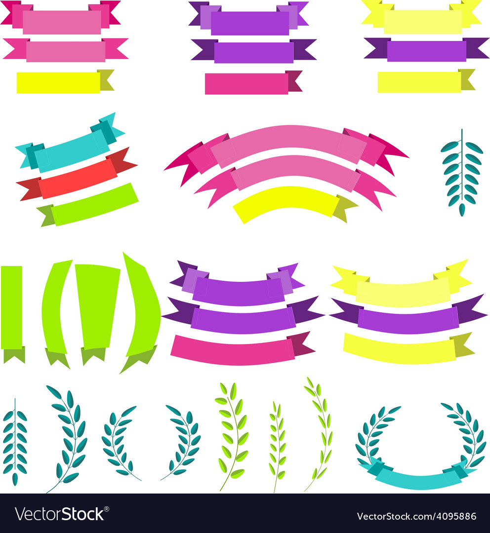 Set of laurels vector image