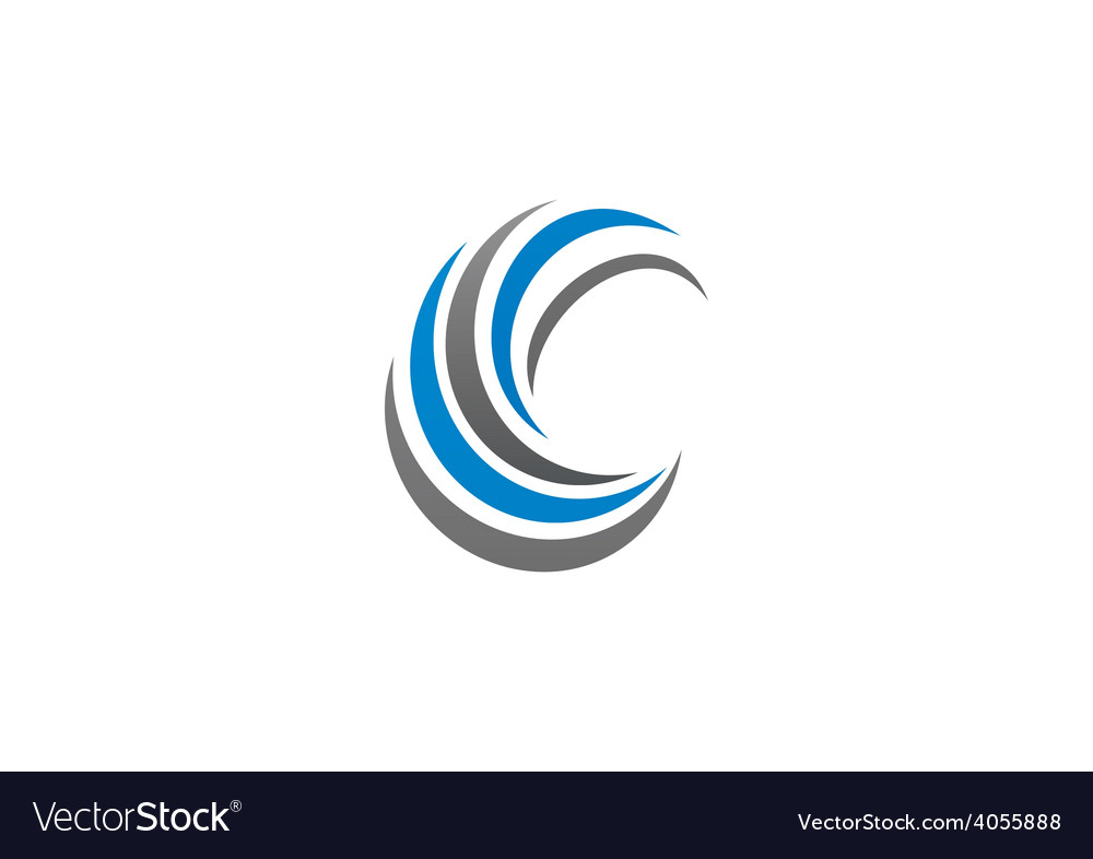 Circle swirl abstract business logo vector image